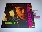 Ice T Colors,actor Law And Order Jsa/coa Signed Lp Record Album