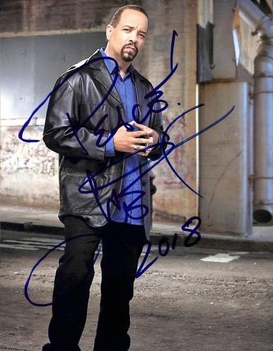 Ice-T Law & Order SVU Peace 2018 Signed 8x10 Photo BAS #E85281