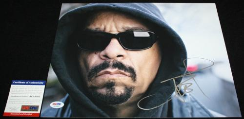 ICE T signed 11 x 14, Colors, Power, NYPD, Law & Order, Rhyme Pays, PSA/DNA
