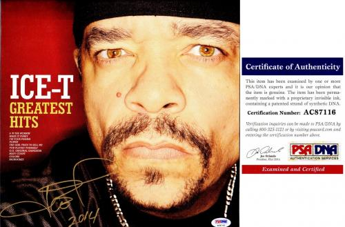 Ice-T Signed - Autographed Greatest Hits Rap LP Record Album Cover with PSA/DNA Certificate of Authenticity (COA)