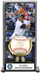 Ichiro Suzuki Seattle Mariners Baseball Display Case with Gold Glove & Plate - Mounted Memories