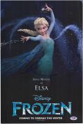 "Idena Menzel Autographed 12"" x 18"" Black Movie Poster - PSA/DNA"