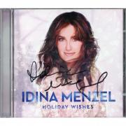 Idina Menzel Autographed Holiday Wishes CD Album - JSA