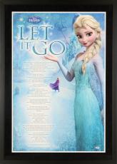 "Idina Menzel Framed Autographed  24"" x 36"" Frozen Movie Poster - PSA/DNA COA"
