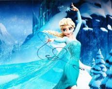 Idina Menzel Signed 8x10 Photo Frozen Elsa Disney Authentic Autograph Coa B