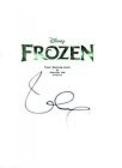 Idina Menzel Signed Autographed FROZEN Movie Script COA VD