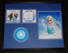 Idina Menzel Signed Framed 16x20 Frozen CD Soundtrack & Photo Display JSA Elsa F
