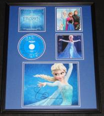 Idina Menzel Signed Framed 16x20 Frozen CD Soundtrack & Photo Display JSA Elsa