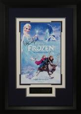 Idina Menzel signed Frozen (Disney) 22X30 Masterprint Poster Custom Black Framed 2 sigs (movie/entertainment/photo)