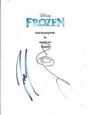 Idina Menzel & Josh Gad Signed Frozen Full 113 Page Script Screenplay Let It Go