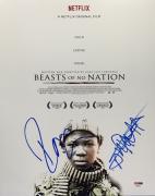 Idris Elba And Abraham Attah Signed *Beasts Of No Nation* 11x14 Photo PSA 84927