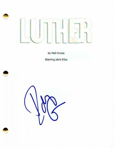 Idris Elba Signed Autograph - Luther Pilot Script - Heimdall Avengers, Zootopia