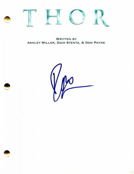 Idris Elba Signed Autograph - Thor Full Movie Script - Heimdall, The Wire, Stud
