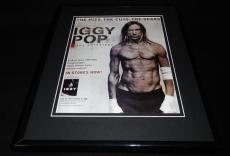 Iggy Pop 2005 Anthology Framed 11x14 ORIGINAL Vintage Advertisement