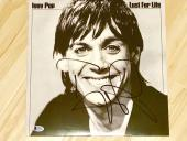 Iggy Pop Hand Signed Lust For Life Album Vinyl Beckett BAS Cert