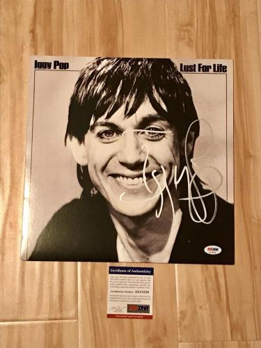 Iggy Pop Hand Signed Lust For Life Album Vinyl PSA DNA Cert