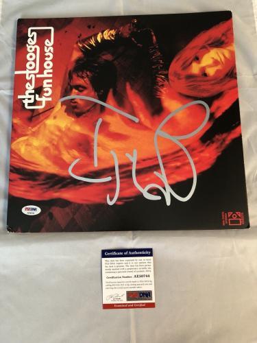 Iggy Pop Hand Signed The Stooges Funhouse Album Vinyl  PSA/DNA
