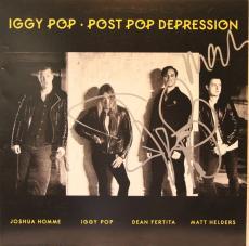 "IGGY POP & MATT HELDERS Signed ""Post Pop Depression"" Album LP JSA #P88517"