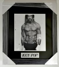 Iggy Pop Signed 11 x 14 B&W Photo Framed Matted JSA Auto