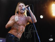 Iggy Pop Signed 11x14 Photo Beckett BAS C62777