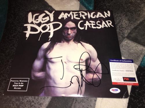 Iggy Pop Signed  American Caesar Vinyl Album Iggy and the Stooges PSA/DNA