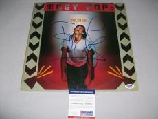 """IGGY POP signed autographed """"SOLDIER"""" LP RECORD PSA/DNA COA! THE STOOGES"""