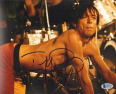 "IGGY POP Signed Autographed ""THE STOOGES"" 8x10 Photo BECKETT BAS #C34793"