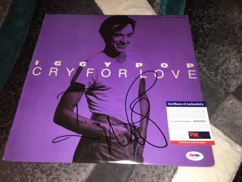 Iggy Pop Signed Cry For Love Vinyl Album Iggy and the Stooges PSA/DNA