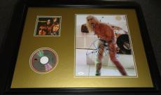 Iggy Pop Signed Framed 18x24 Photo & The Stooges CD Display JSA