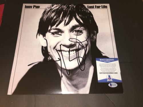 Iggy Pop Signed Lust For Life Vinyl Album Iggy and the Stooges Beckett