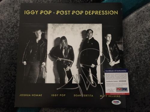 Iggy Pop Signed Post Pop Depression Vinyl Album Iggy and the Stooges PSA/DNA
