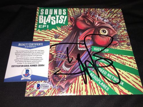 "Iggy Pop Signed Sound Blasts 7"" Album Cover Vinyl Iggy and the Stooge Beckett"