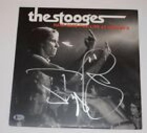 Iggy Pop Signed THE STOOGES HAVE SOME FUN: LIVE AT UNGANO'S Record Album BAS COA
