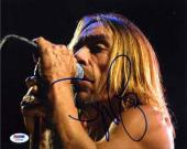 Iggy Pop Stooges Autographed Signed 8x10 Photo Certified Authentic PSA/DNA COA