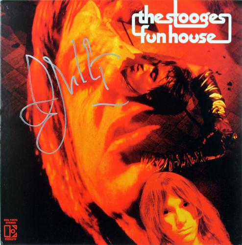 Iggy Pop The Stooges Signed Funhouse Album Cover W/ Vinyl PSA #AB81101