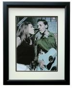 Ike and Tina Turner Framed 1960's On Stage 12x17 High Quality Photo