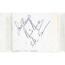 Ike & Tina Turner Autographed/Signed 3x5 Card