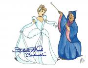 "ILENE WOODS Voice of CINDERELLA in 1950 Animated Movie ""CINDERELLA"" Passed Away 2010 - Signed 11x8.5 Color"