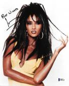 Iman signed autographed 8x10 photo! David Bowie! RARE! Beckett BAS COA!