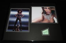 Iman Signed Framed 16x20 Photo Display David Bowie Wife
