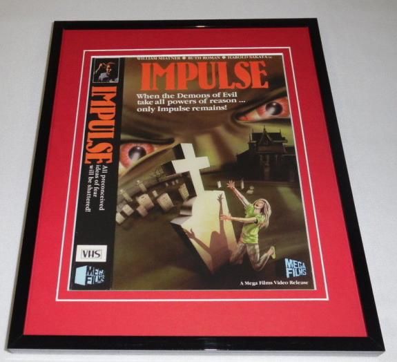 Impulse Framed 8x10 Repro Poster Display William Shatner Ruth Roman