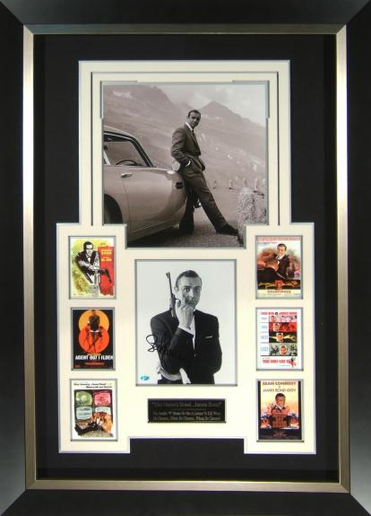 Includes signed portrait of Sean Connery Framed 30×41
