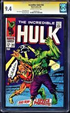 Incredible Hulk #103 Cgc 9.4 Oww Ss Stan Lee Highest Graded Cgc #1183431015