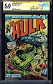 Incredible Hulk #180 Cgc 5.0 Oww Pages Ss Stan Lee 1st App Wolverine #1227710016