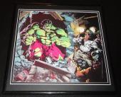 Incredible Hulk 1981 ORIGINAL Framed 12x12 Marvel Poster