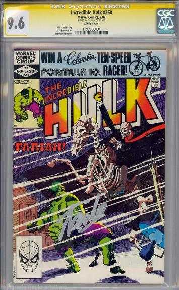 Incredible Hulk #268 Cgc 9.6 White Ss Stan Lee Signed Sig Series #1197756031