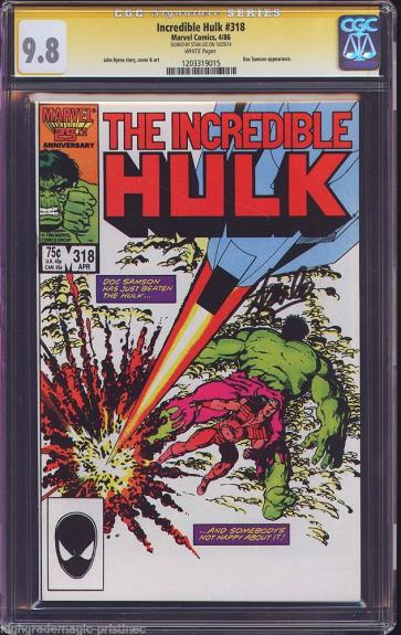 Incredible Hulk #318 Cgc 9.8 White Stan Lee Ss Highest Graded #1203319015