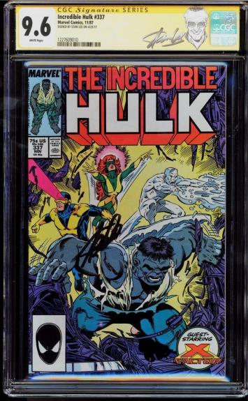 Incredible Hulk #337 Cgc 9.6 White Ss Stan Lee New Label Cgc #1227609010