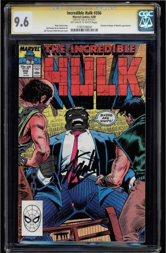 Incredible Hulk #356 Cgc 9.6 Oww Ss Stan Lee 2nd Highest Graded Cgc #1197728004