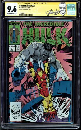 Incredible Hulk #361 Cgc 9.6 Oww Ss Stan Lee 2nd Highest Graded Cgc #1508498016